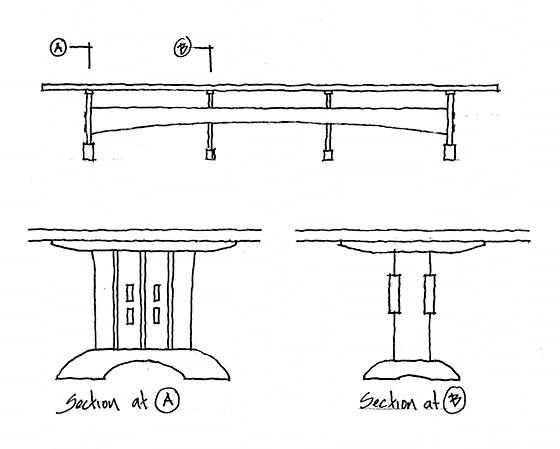 Drawing of the table base we will build
