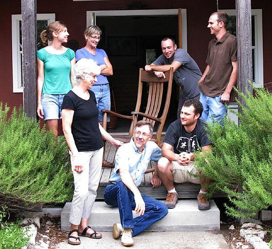 Gary Weeks & Company on porch