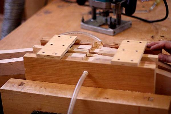 Chair leg notching jig