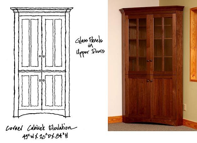 Corner Cabinet Elevation