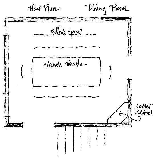 Corner Cabinet Floorplan