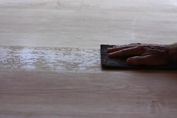 Wet sanding a tabletop finish