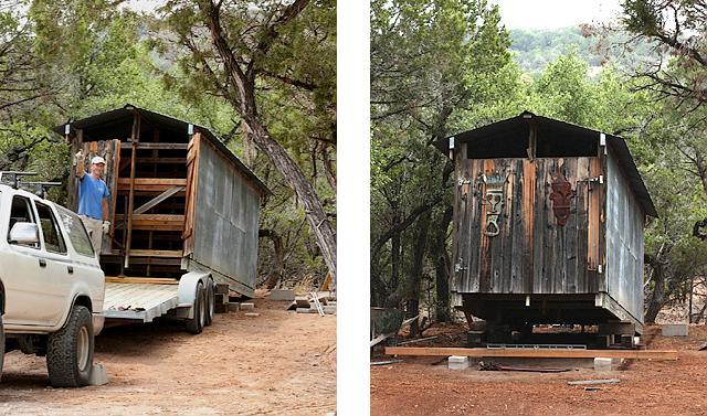 Moving lumber shed