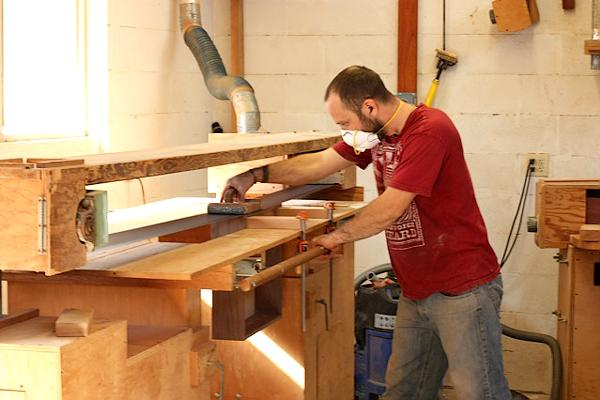 Stroke sanding a drawer to fit