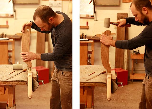Aaron fitting chair joints