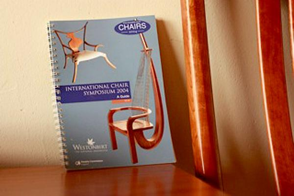 Chairs 2004 catalog on a Gary Weeks chair