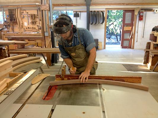 crosscutting a chair piece