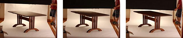 Photographing furniture - lighting experiments