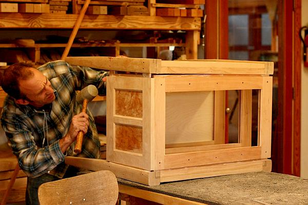 assembling desk drawer stack sections