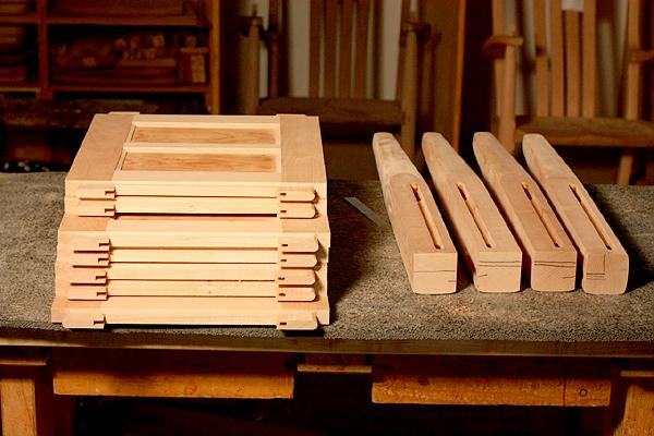 mortise and tenons on desk parts