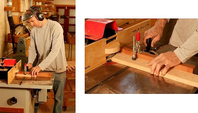 tenon and profile desk parts