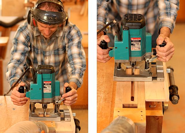 plunge router mortising