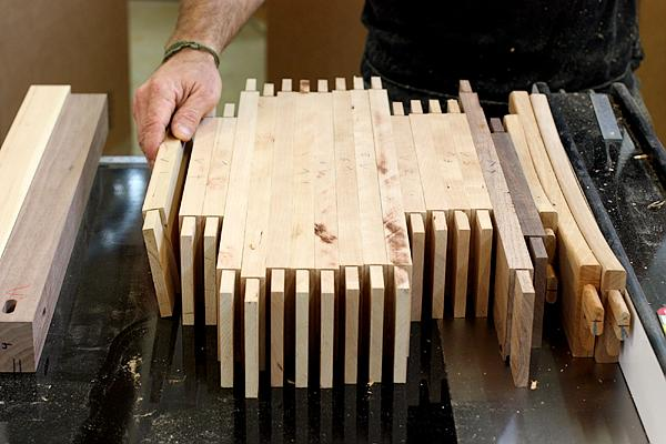 Cut tenons ready for assembly