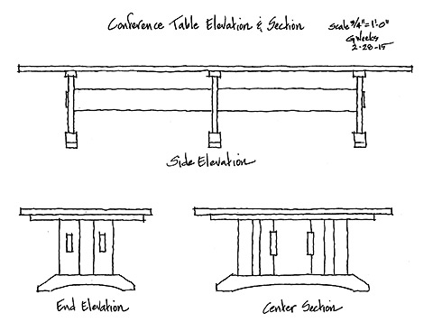 conference table elevation