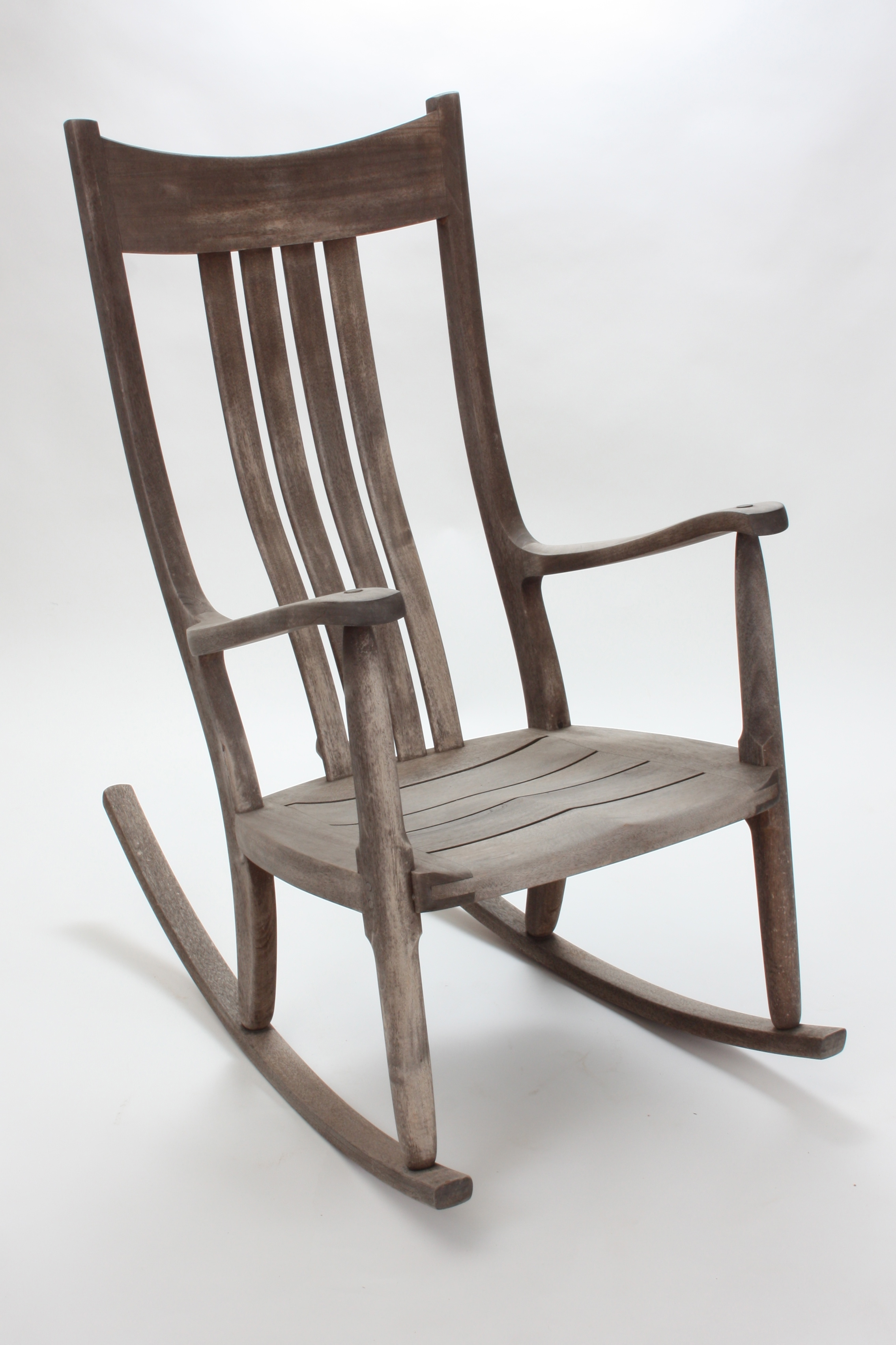 Weathered Mahogany, Occasionally Wiped Down, Would Not Appeal To Everyone,  So We Decided To Refinish This Chair, Beginning With A Deep Cleaning.